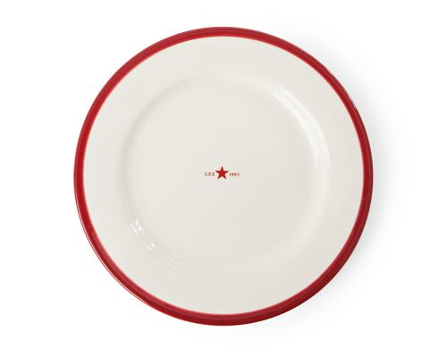 Teller *PLATE STAR RED* LEXINGTON