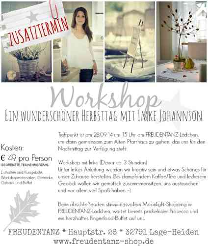 Workshop *IMKE JOHANNSON*
