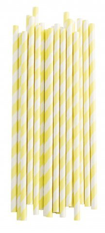 Strohhalme *STRIPES LEMON WHITE* Miss Etoile