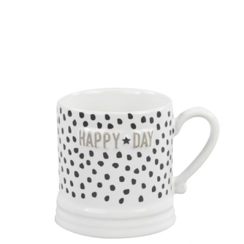 Mug Small *HAPPY DAY, BLACK* Bastion Collections
