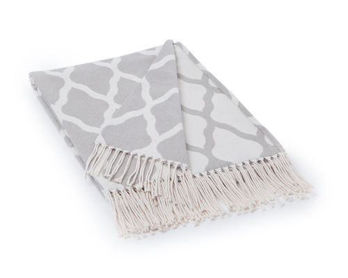 Decke *JACQUARD COTTON THROW GREY* Lexington