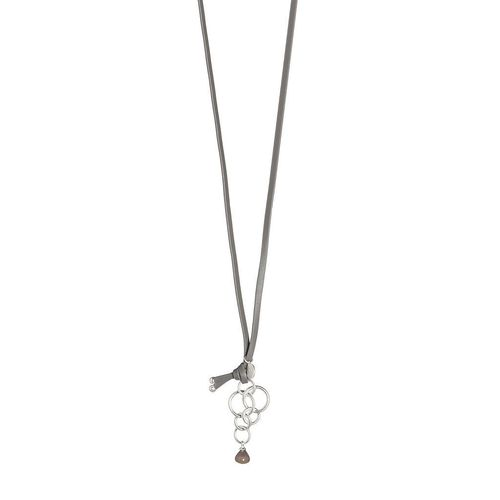 Halskette *NECKLACE GREY AGATE* Sence Copenhagen