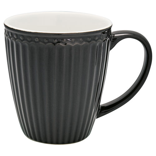Latte Cup mit Henkel *ALICE DARK GREY* GreenGate