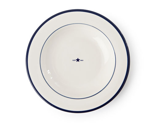 Suppenteller *PLATE STAR BLUE* LEXINGTON