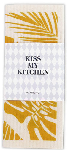 Schwammtuch *URBAN JUNGLE YELLOW* Kiss my kitchen