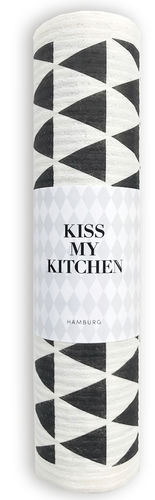 Schwammtuch Rolle *DREIECK, WHITE BLACK* Kiss my kitchen