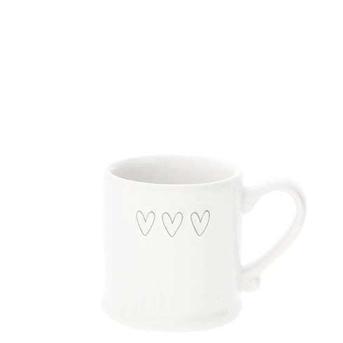 Espresso Tasse *3 HEARTS GREY* Bastion Collections