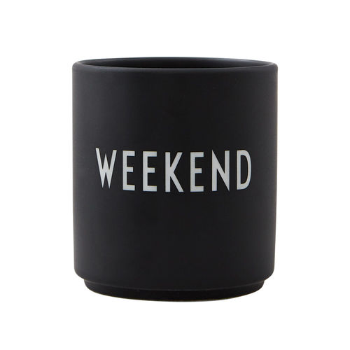 Becher *WEEKEND - SCHWARZ* DESIGN LETTERS
