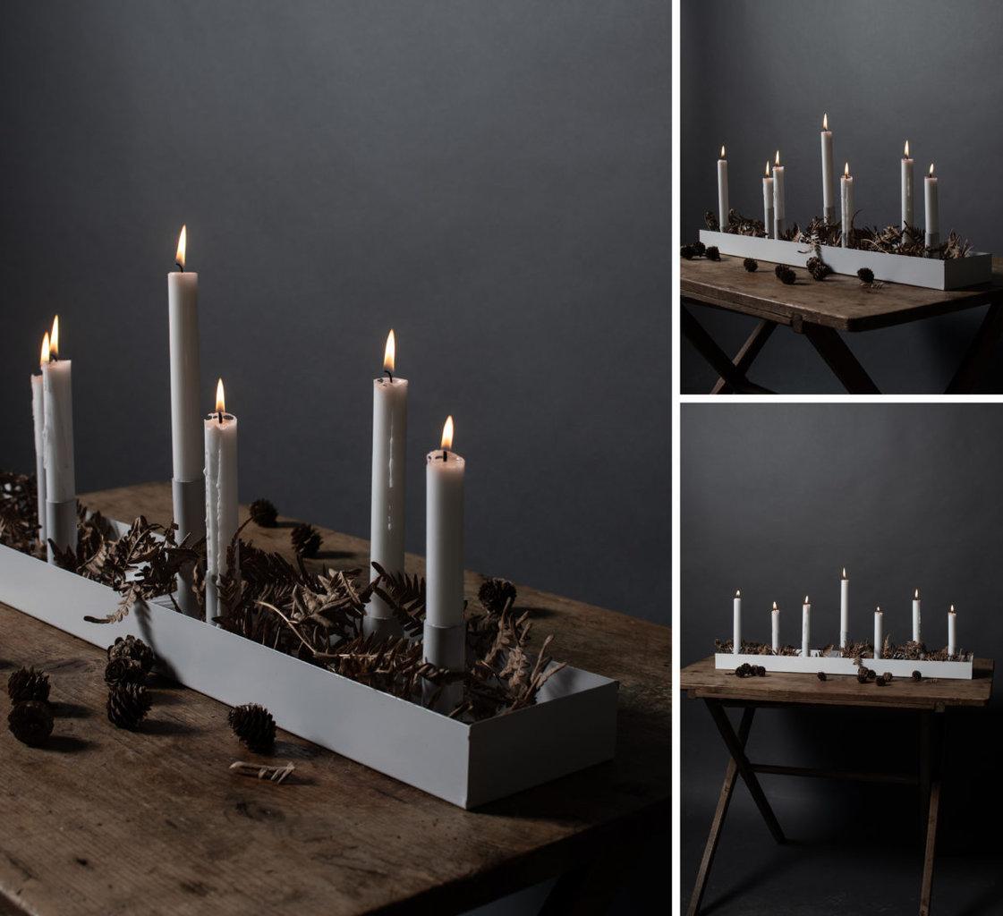 Storefactory Kerzenleuchter Sund Rund Schwarz