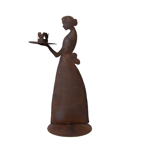 Kerzenhalter *CANDLE LADY BROWN ANTIQUE* Bastion Collections