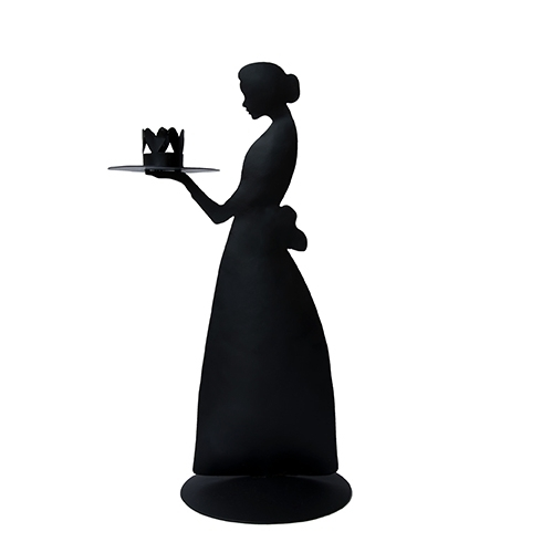 Kerzenhalter *CANDLE LADY BLACK* Bastion Collections