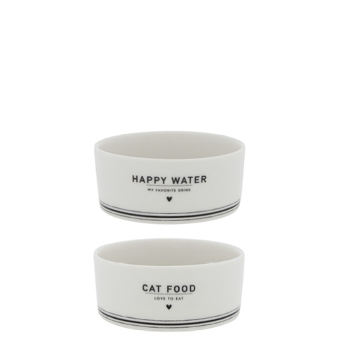 Napf 2er Set *CAT FOOD + WATER* Bastion Collections